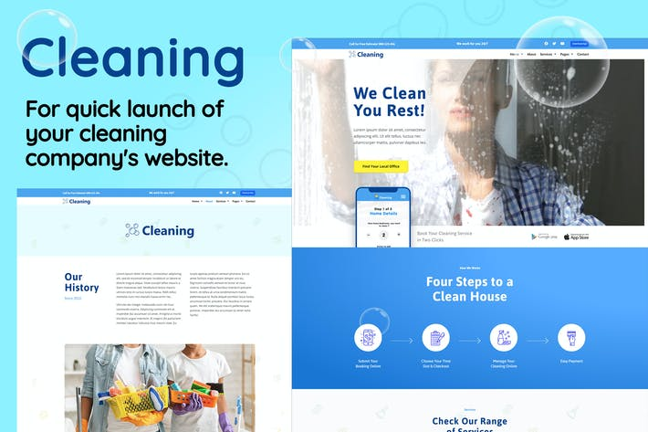 Thumbnail for Cleaning - Small Business Template Kit