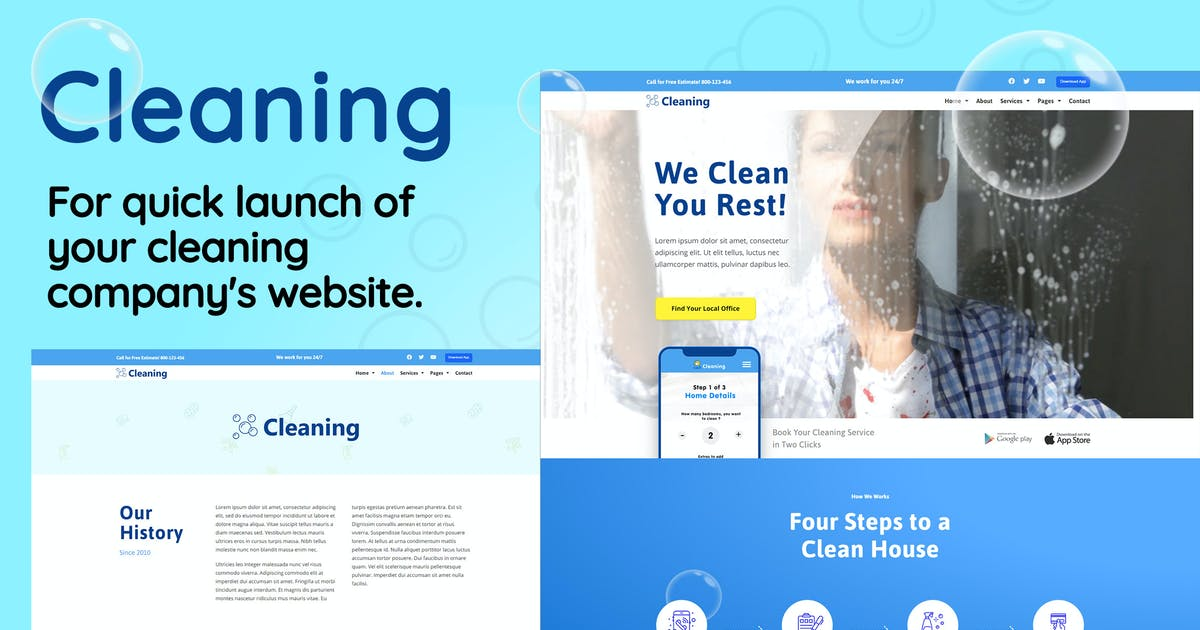 Download Cleaning - Small Business Template Kit by PuzzlerBox