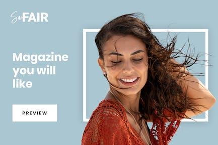 SanFair - Blog Magazine Elementor Template Kit