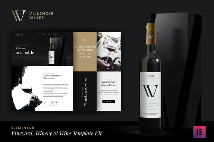 Thumbnail for Villenoir - Wine Template Kit