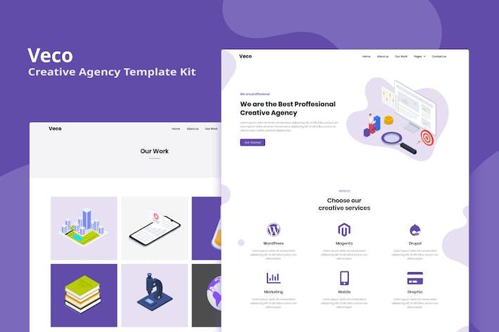 Thumbnail for Veco - KreativAgentur Elementor Template Kit