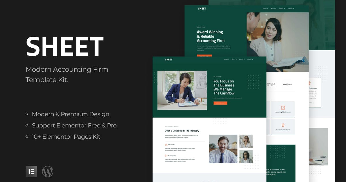 Download Sheet - Modern Accounting Firm Template Kit by mahative