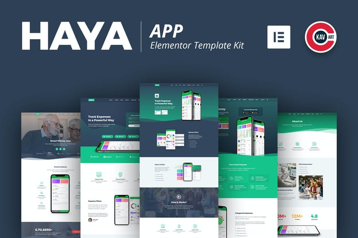 Thumbnail for Haya - App Template Kit