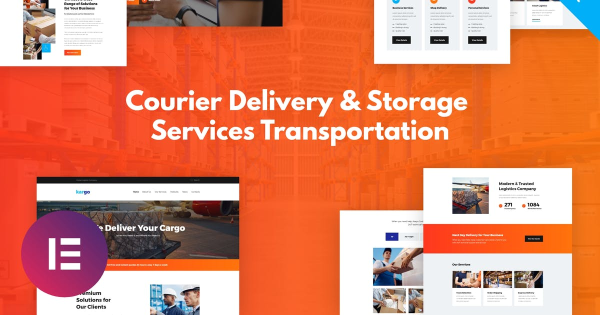 Download Kargo - Delivery & Storage Template Kit by ThemeREX