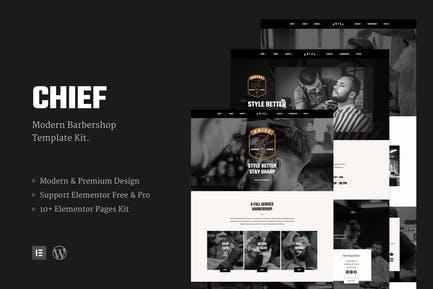 Chief - Modern Barbershop Template Kit