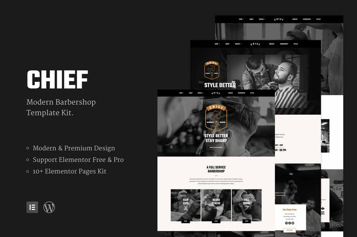 Chief - Modern Barbershop Template Kit
