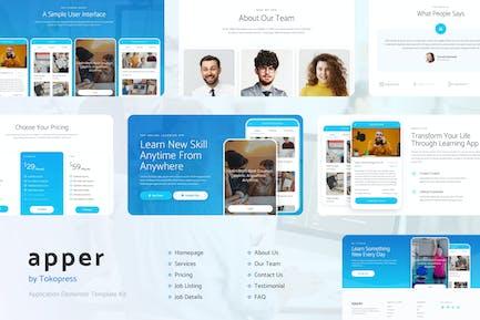 Apper - App SaaS Elementor Template Kit