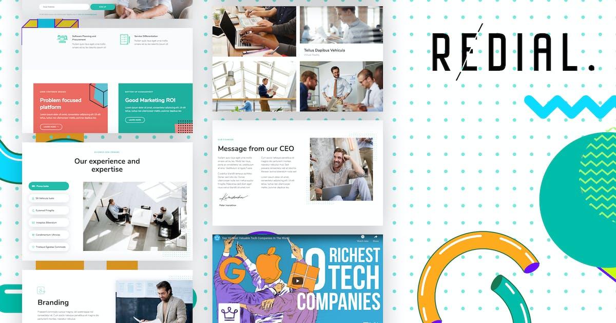 Download Redial - Corporate & Business Template Kit by YumnaStudio