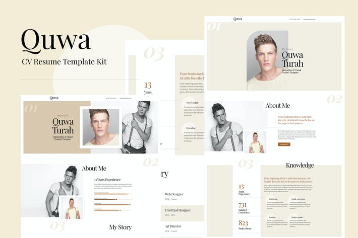 Quwa - CV Resume Template Kit