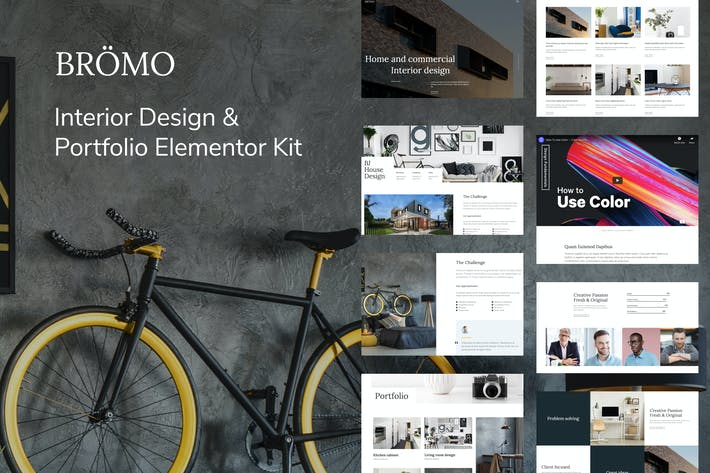Thumbnail for Bromo - Interior Design Portfolio Template Kit