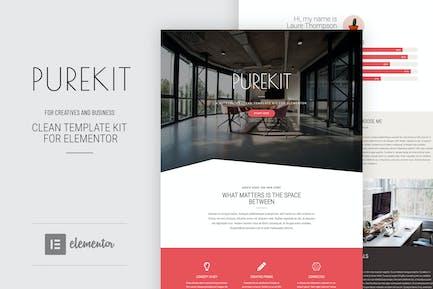 Purekit - Creatives & Business Elementor Vorlage Kit