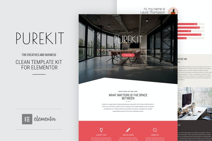 Thumbnail for Purekit - Creatives & Business Elementor Template Kit