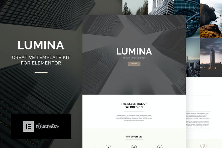 Thumbnail for Lumina - Creatives & Business Elementor Template Kit
