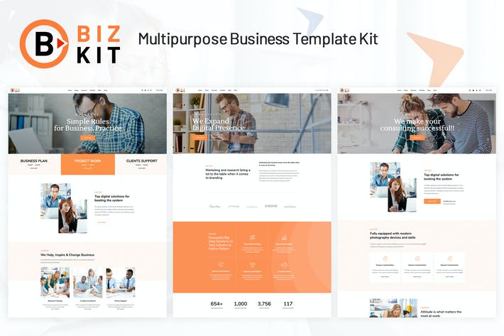 Thumbnail for BizKit - Multipurpose Business Template Kit