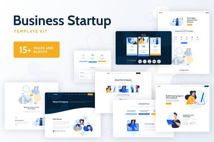 Thumbnail for Vixus - Business Startup Template Kit