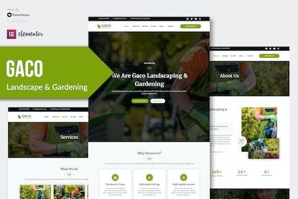 Gaco - Paysage & Jardinage Elementor Template Kit
