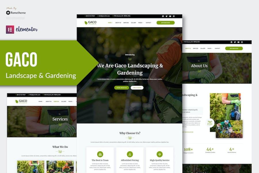 Gaco - Landscape & Gardening Elementor Template Kit