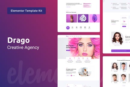 Drago - Creative Digital Agency Elementor Template Kit