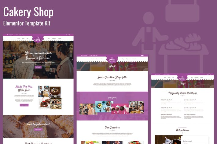 Cakeryshop - Bakery Business Template Kit