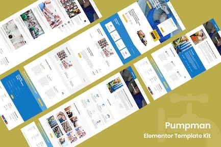 Pumpman - Kit de Plantilla de elemento de servicio de fontanería
