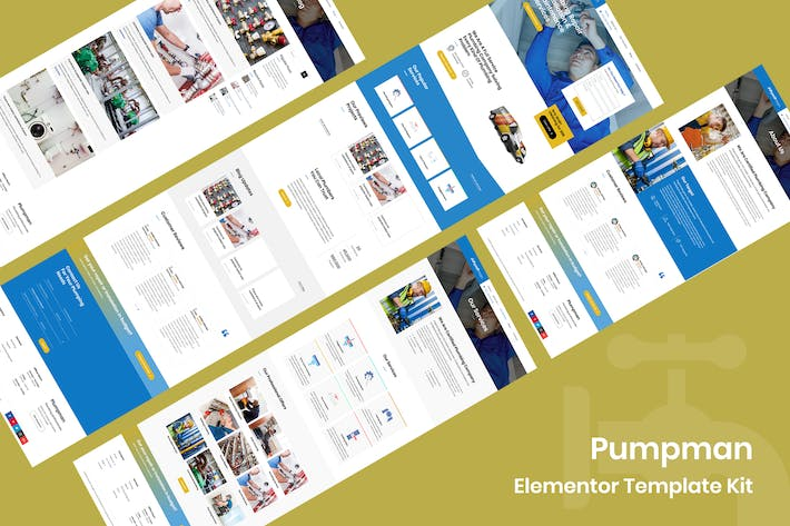 Thumbnail for Pumpman - Plumbing Service Elementor Template Kit