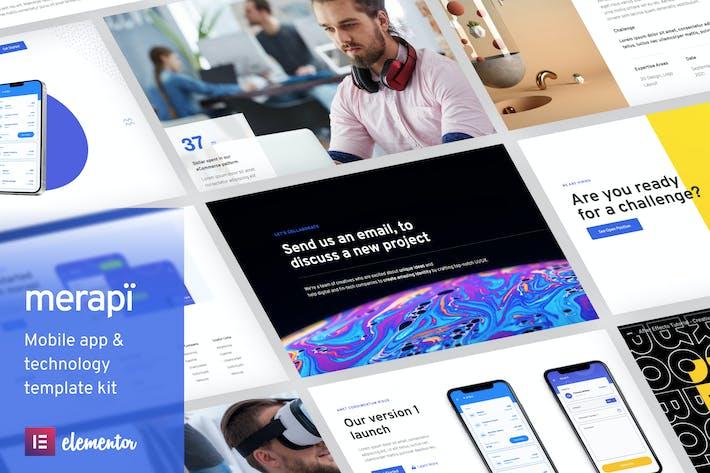 Thumbnail for Merapi - Mobile App & Technology Template Kit