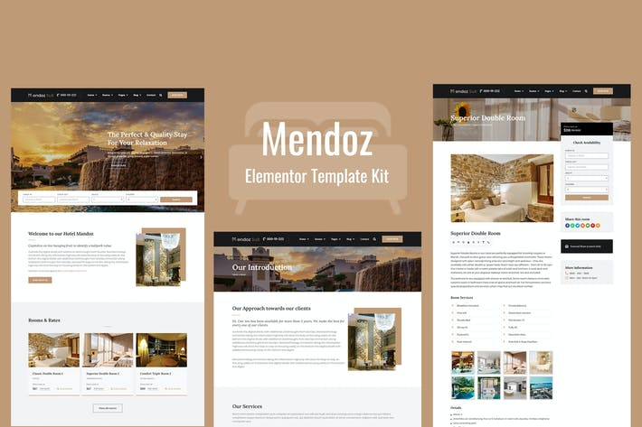 Thumbnail for Mendoz - Hotel & Travel Template Kit