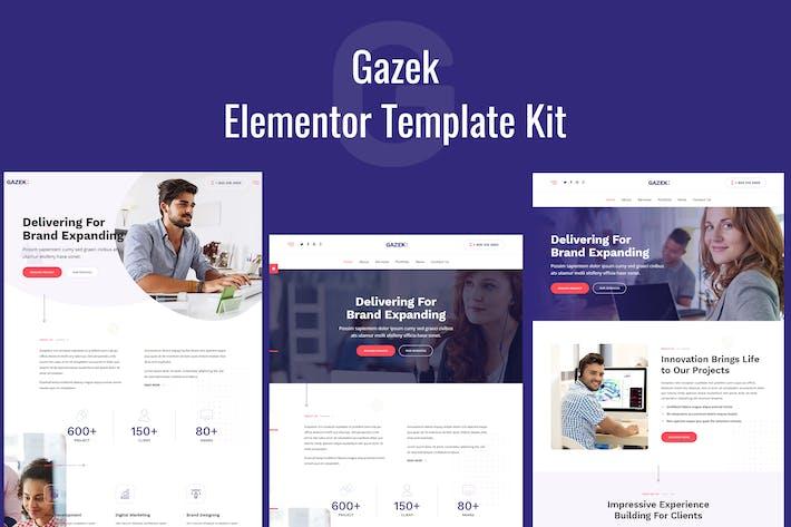 Thumbnail for Gazek - Agency Portfolio Elementor Template Kit