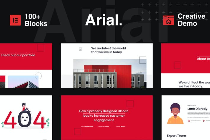 Cover Image For Arial - Architecture, Construction & Real Estate Elementor Template Kit