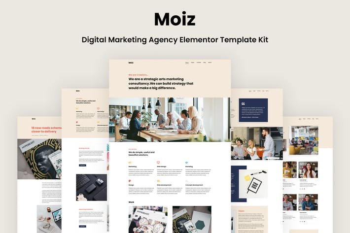 Moiz - Digital Marketing Agency Elementor Template Kit