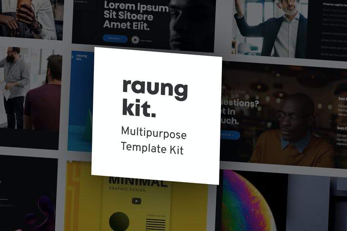 Thumbnail for Raung - Dark Style Business Template Kit