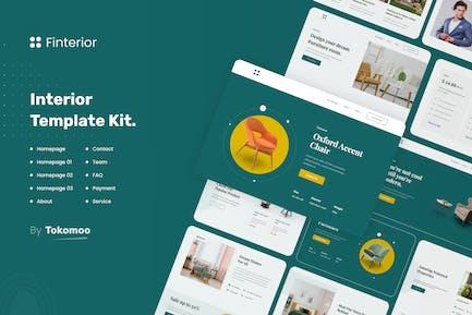Finterior | Elementor-Vorlagen-Kit für Innenarchitektur und Architektur