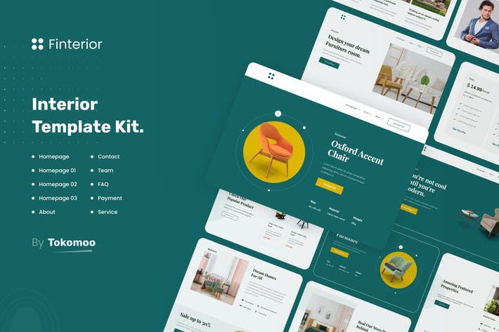 Thumbnail for Finterior | Interior Elementor Template Kit