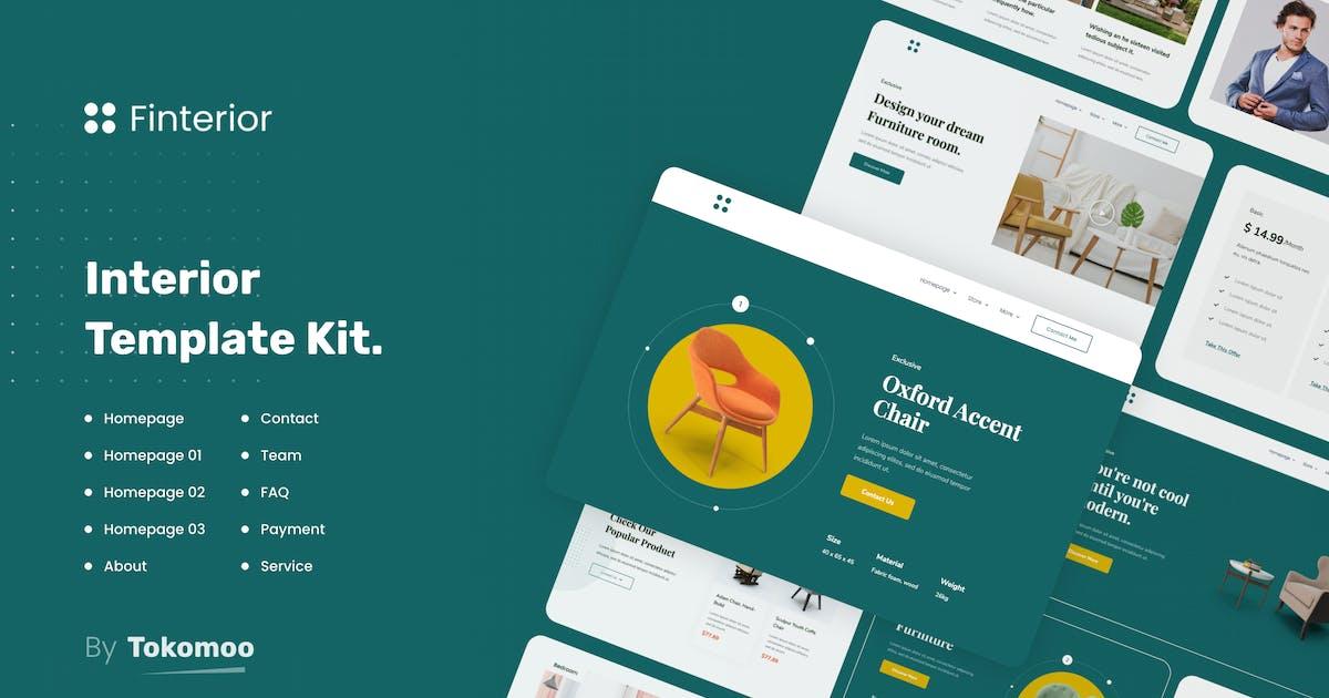Download Finterior | Interior Design & Architecture  Elementor Template Kit by tokomoo