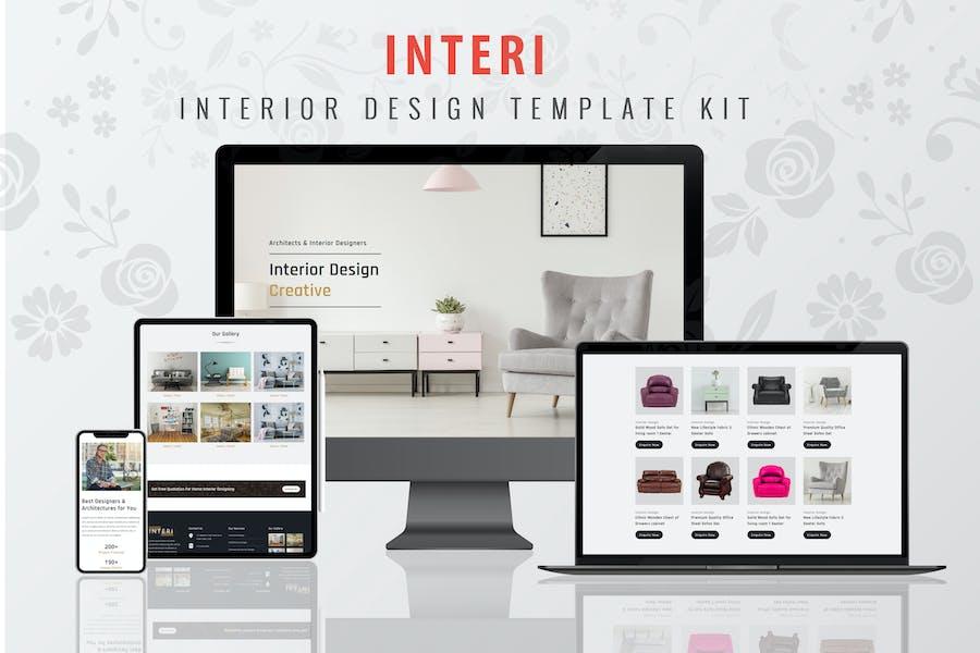 Interi - Interior Design Elementor Template Kit