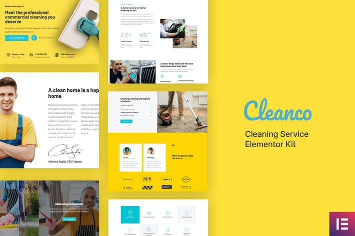 Thumbnail for Cleanco - Cleaning Service Company Template Kit