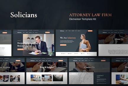 Solicians - Juego de plantillas para bufetes de abogados