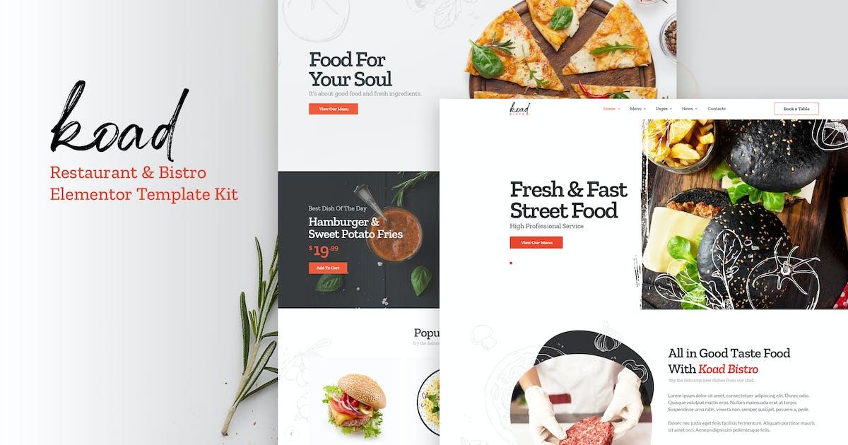 Download Koad - Restaurant & Bistro Elementor Template Kits by Nunforest