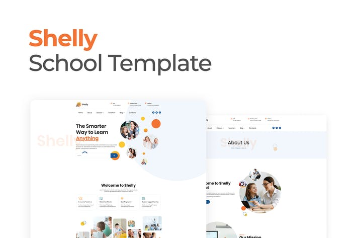 Thumbnail for Shelly – School Template Kit for Elementor
