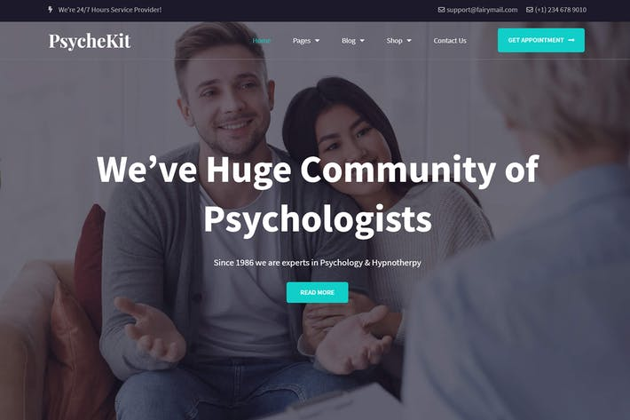 Thumbnail for PsycheKit - Psychologist & Hypnotherapy Elementor Template Kit