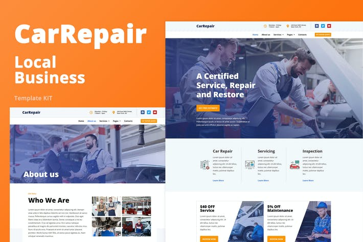 Thumbnail for CarRepair - Local Business Template Kit