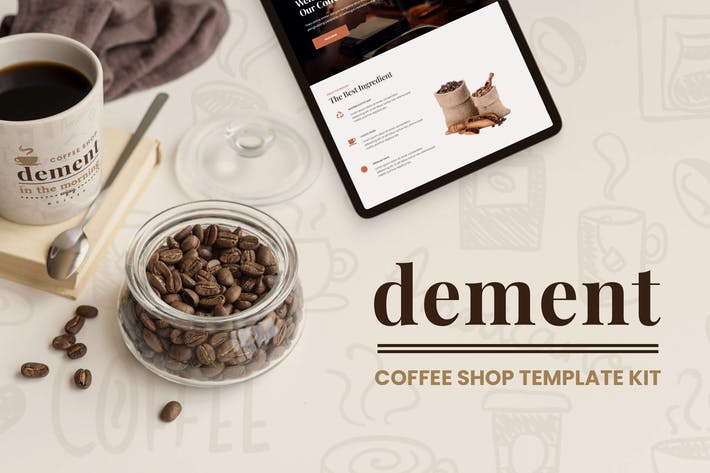 Thumbnail for Dement - Coffee Shop Elementor Template Kit