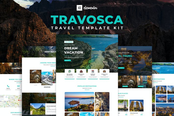 Thumbnail for Travosca - Reise Elementor Template Kit