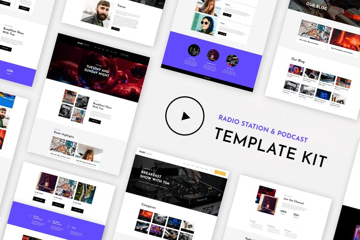 Thumbnail for RareRadio | Music & Streaming Elementor Template Kit