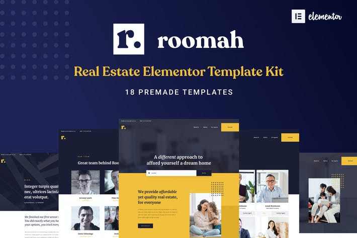 Thumbnail for Roomah - Real Estate Agent Elementor Template Kit