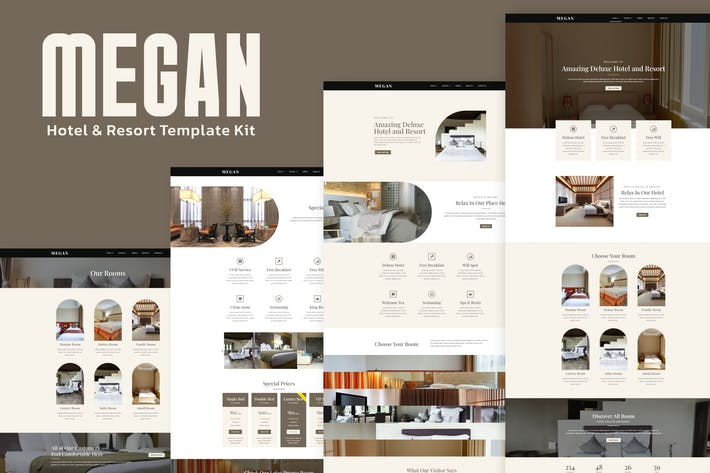 Thumbnail for Megan - Hotel Booking Template Kit