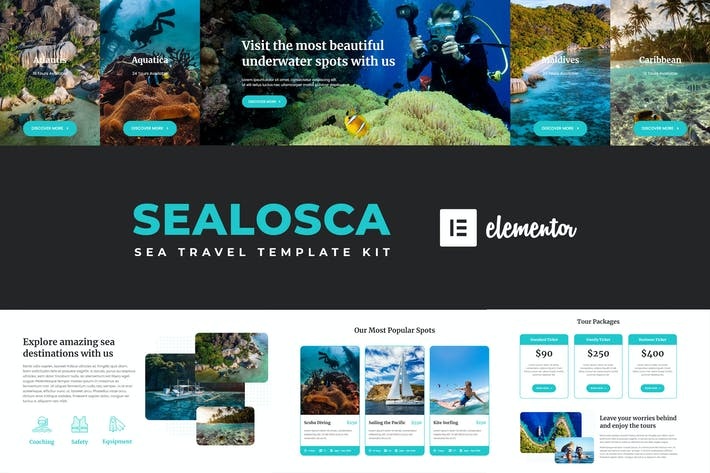 Thumbnail for Sealosca - Sea Adventure Reise-Template Kit