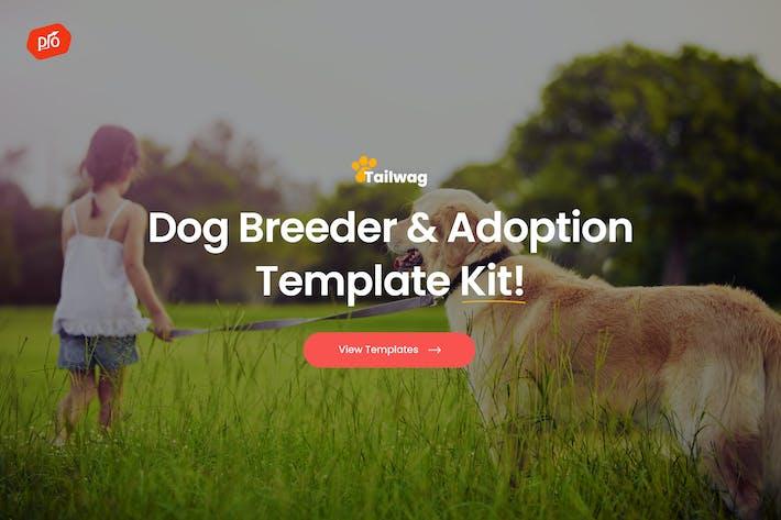 Thumbnail for Tailwag - Hundezüchter & Adoption Template Kit