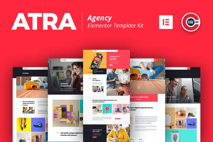 Thumbnail for Atra - Creative Agency Elementor Template Kit