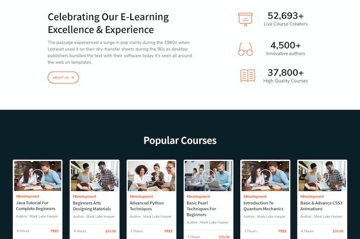 Thumbnail for LearnKit - e-Learning Elementor Template Kit